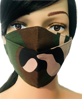 The Retro Military Camo Mask