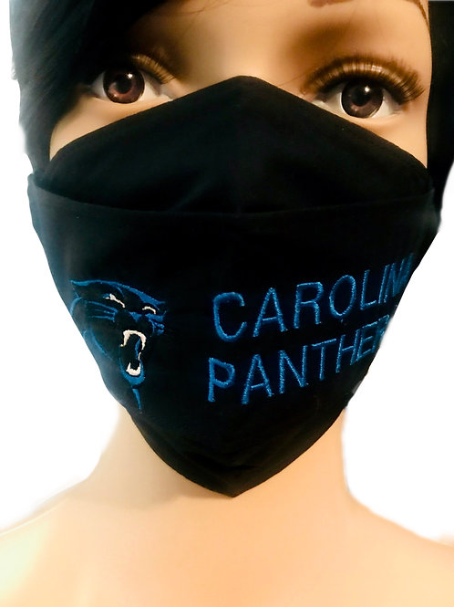 The Carolina Panthers Face Mask