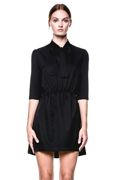 Black PussyCat Bow Dress