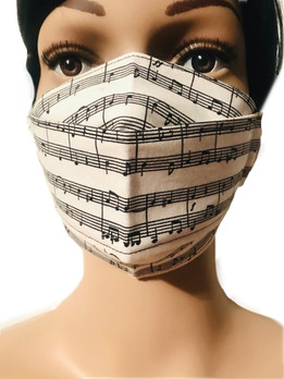 The Musical Notes Face Mask