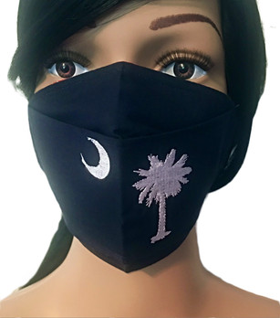 The South Carolina Palmetto Tree Face Mask