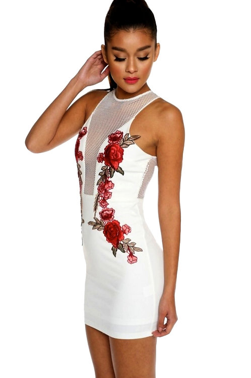 Mesh Embroidered Floral Dress
