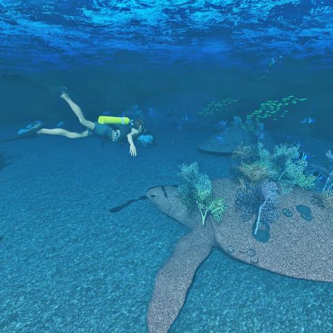 Dive Sculpture Meets Coral Reef Science