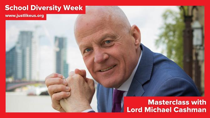 Lord Michael Cashman presents online School Diversity Week masterclass on LGBT+ rights in the UK