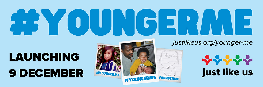 Younger Me banner launch date with websi