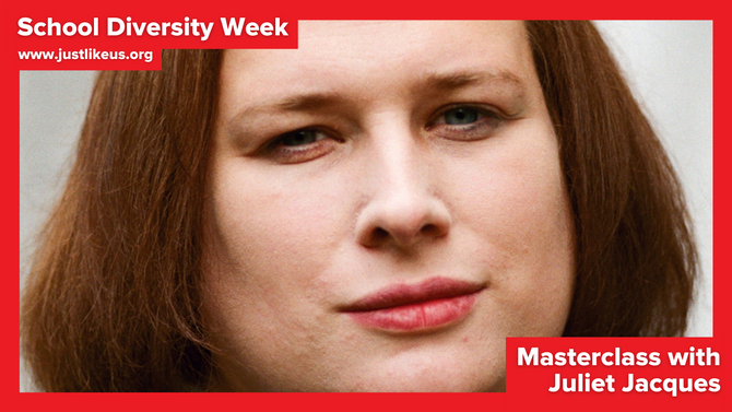 Juliet Jacques presents online School Diversity Week masterclass on how we tell our stories