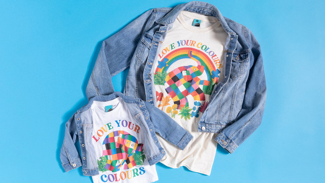 Elmer the Patchwork Elephant to fundraise for Just Like Us with new Pride t-shirts