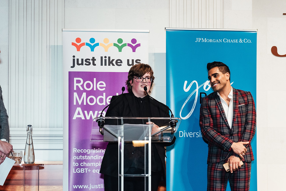 Delivering my acceptance speech with Dr Ranj