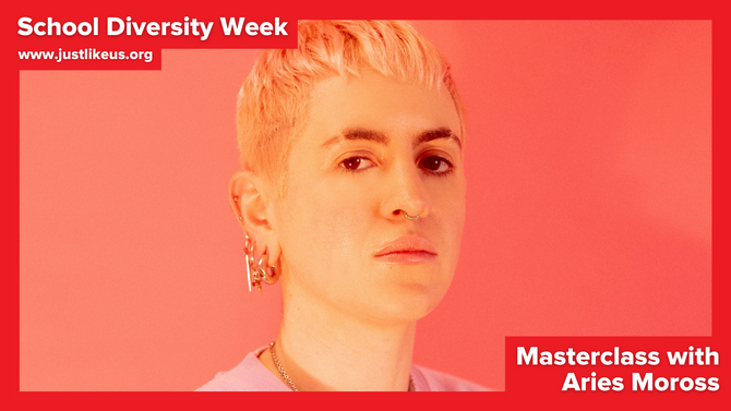 Aries Moross presents online School Diversity Week masterclass on making a career from creativity
