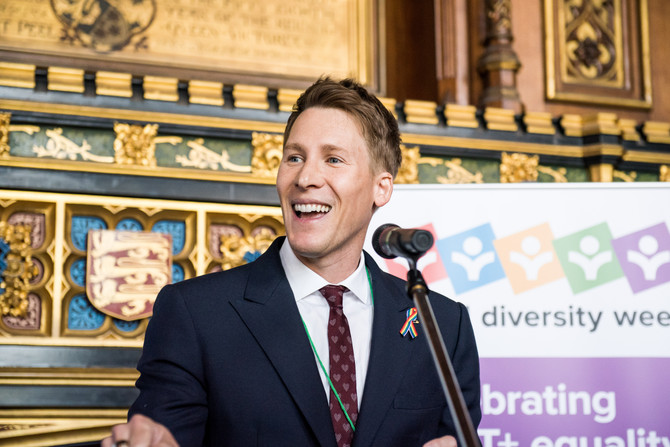 Dustin Lance Black says we should 'celebrate our beautiful differences' at School Diversity Week lau