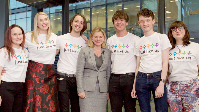 Justine Greening describes coming out as the best thing she's ever done, at event for Just Like Us