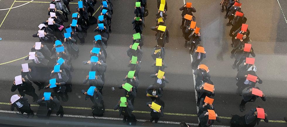 Harris Tottenham school - pupils making a rainbow (1).jpeg