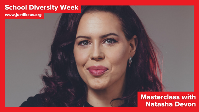 Natasha Devon presents online School Diversity Week masterclass on using your voice for good