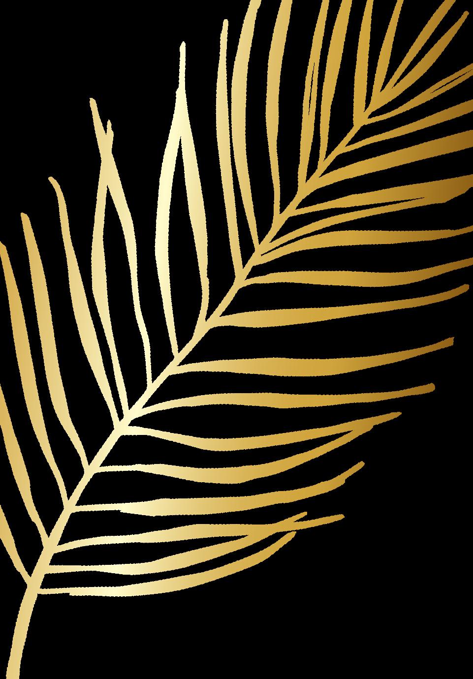 Golden palm leaf