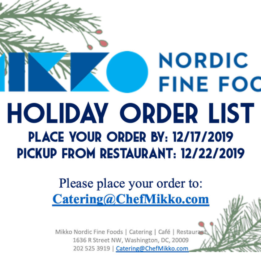HOLIDAY ORDER LIST IS HERE