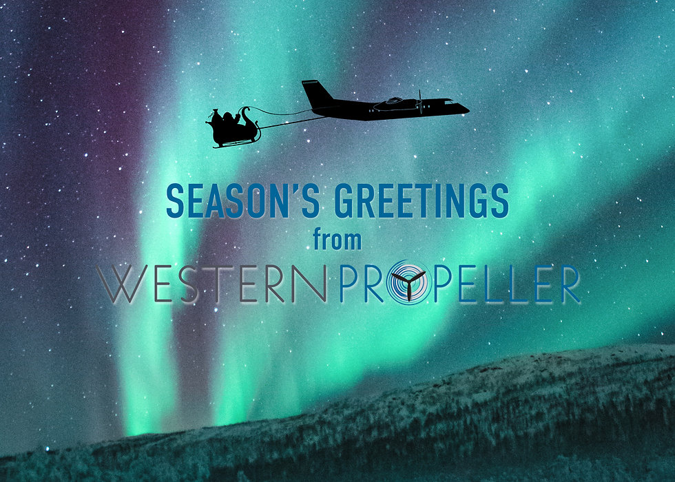 Western Propeller Christmas Card