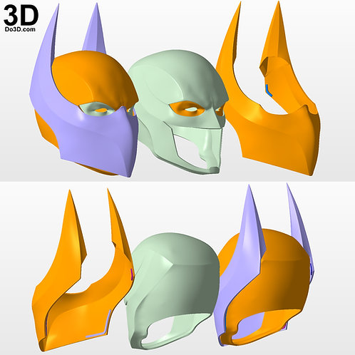 Batman Cowl Helmet with Mouth Cover and Shield | 3D Model Project #3475
