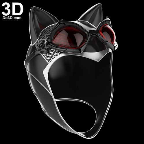 Catwoman Arkham Knight Helmet and Goggles | 3D Model Project #2435