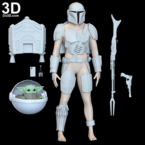 Mandalorian Dyn Jarren (Din Djarin)  Beskar Set | 3D Printable Mod el #6407