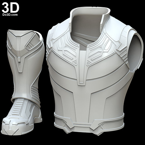 Thanos Vest Armor, Shin, and Boots | 3D Model Project #4418