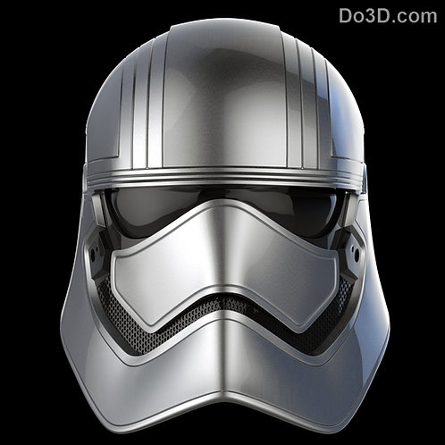 Captain Phasma Chrometrooper Helmet Star Wars | 3D Printable Model STL File #604