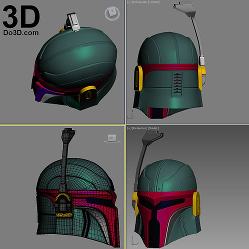 Variant Kai Arts Star Wars Boba Fett Helmet | 3D Model Project #975