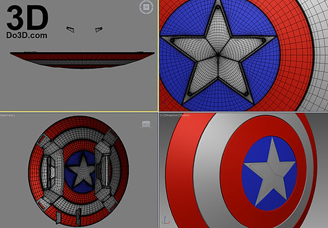 Captain America Civil War Shield (Round) | 3D Model Project #444