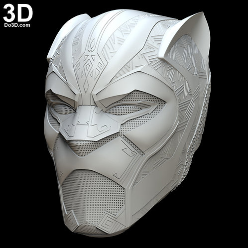 Black Panther Avengers Infinity War Helmet | 3D Model Project #4396