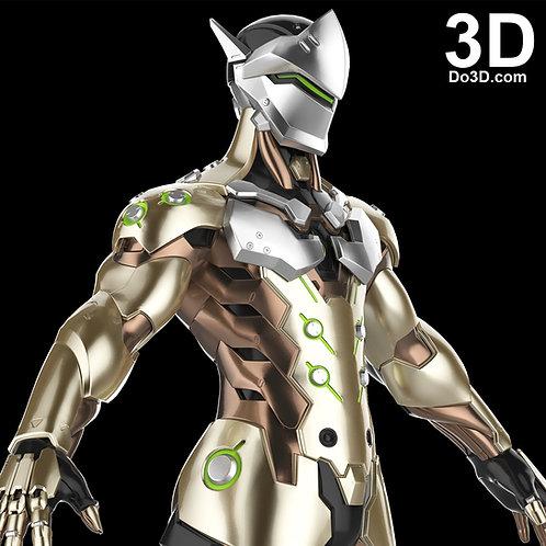 Genji Overwatch Full Body Armor Swords, Helmet, Suit | 3D Model Project #1511