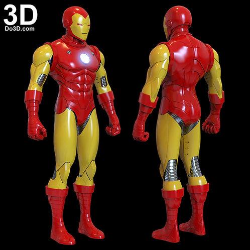 Iron Man Classic Tony Stark Armor + Helmet | 3D Model Project #5737