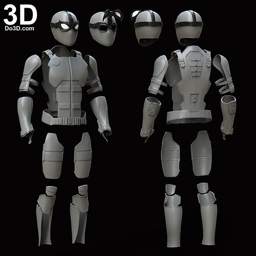 Spider Man Stealth Night Monkey Face Shell + Armor | 3D Model Project #5996