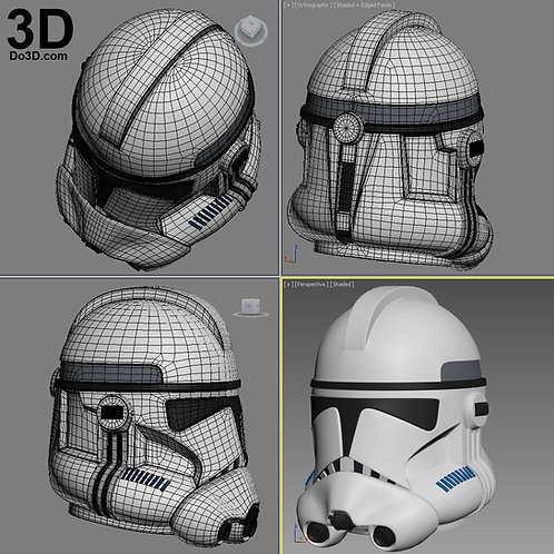 Clone Trooper Phase 2 Star Wars Helmet | 3D Printable Model Project #1587
