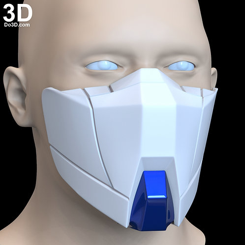 GAT-X102 Duel Gundam Style Face Mask Covering | 3D Printable Model #F1