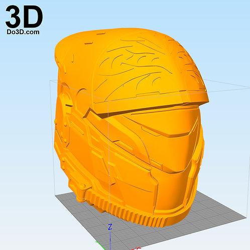 Iron Breed Great Helm Titan Destiny Helmet   3D Printable Model #2229