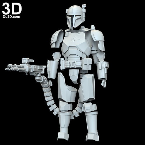 Heavy Infantry Mandalorian Paz Vizla Armor Set | 3D Model Project #6298