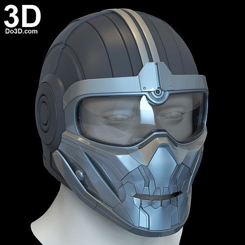 Taskmaster Black Widow Movie Helmet | 3D Printable Model STL File #6558
