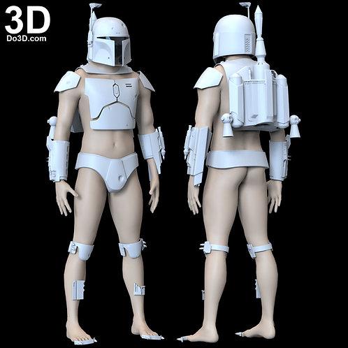 Boba Fett Star Wars Classic Amor + Jetpack Set | 3D Model Project #5625
