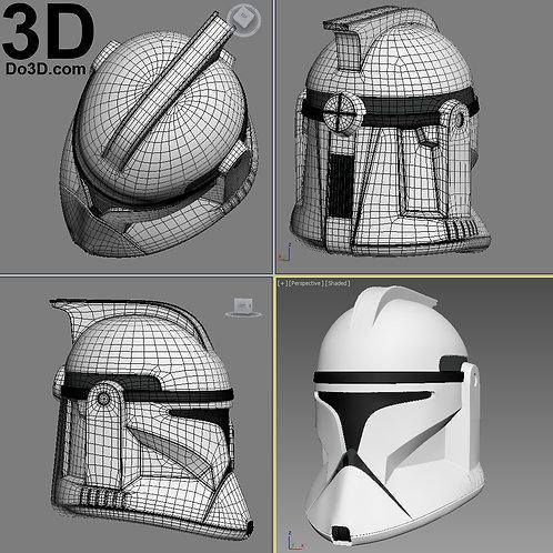 Clone Trooper Phase 1 Star Wars Helmet | 3D Printable Model Project #1631