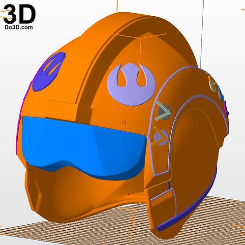 Luke SkyWalker X-Wing Resistance Pilot Helmet Star Wars | 3D Model Project #2496