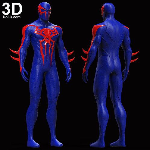Spider-man 2099 Black Suit Blue | 3D Model Project #5950