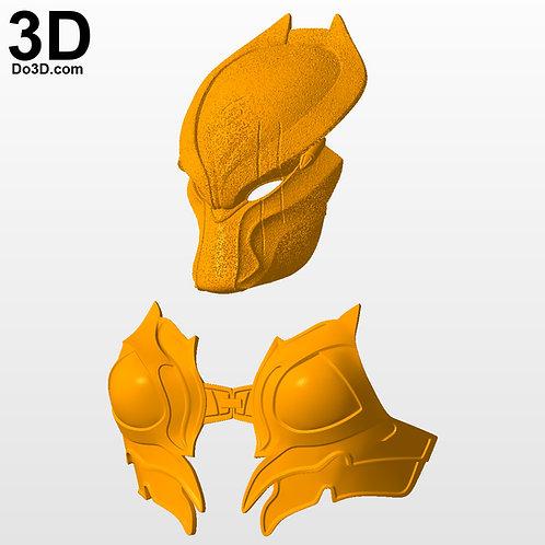 Machiko Noguchi She Predator Helmet + Chest Armor | 3D Model Project #2908