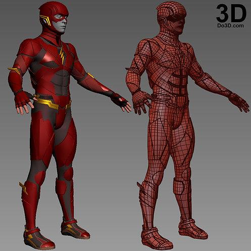 The Flash Justice League JL Full Body Armor Suit | 3D Model Project #1470