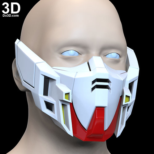 XXXG-00W0 Wing Gundam Zero Style Face Mask Covering | 3D Printable Model #F7