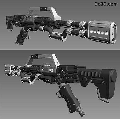 Flametrooper's Gun D-93 Incinerator Flamethrower   3D Model Project #262
