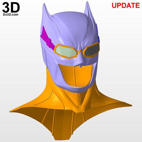 Batman Justice League Helmet with Goggles Tactical Cowl 3D Printable Model #2177