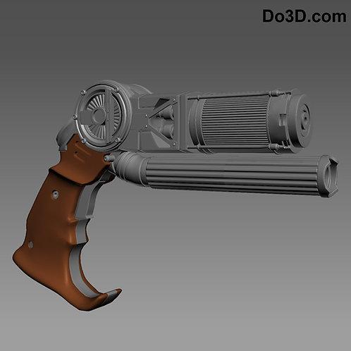 Grapple Blaster Gun From Batman v Superman BVS | 3D Model Project #264