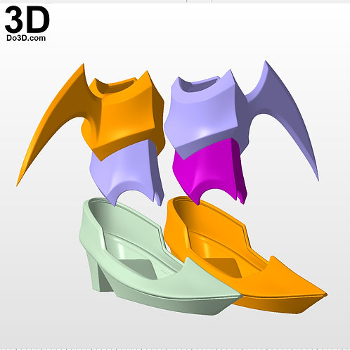 Aqua KH3 Ankle & Shoes Kingdom Hearts Birth by Sleep,  3D Model Project #5398