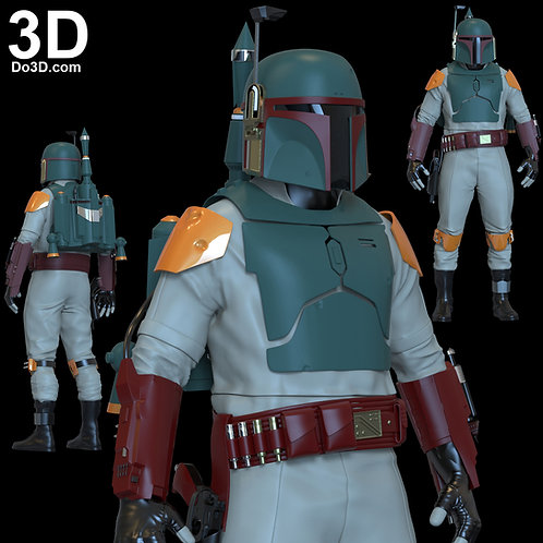 Boba Fett Star Wars Armors Mandalorian Movie Style 3D Printable Model STL #BM52