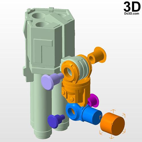 Shoulder Gun Blaster for Anthem Online Game  | 3D Model Project #3554
