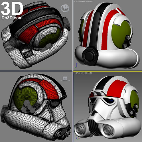 V-Wing Trooper Helmet Evolutions Clone Trooper Pilot | 3D Model Project #1140